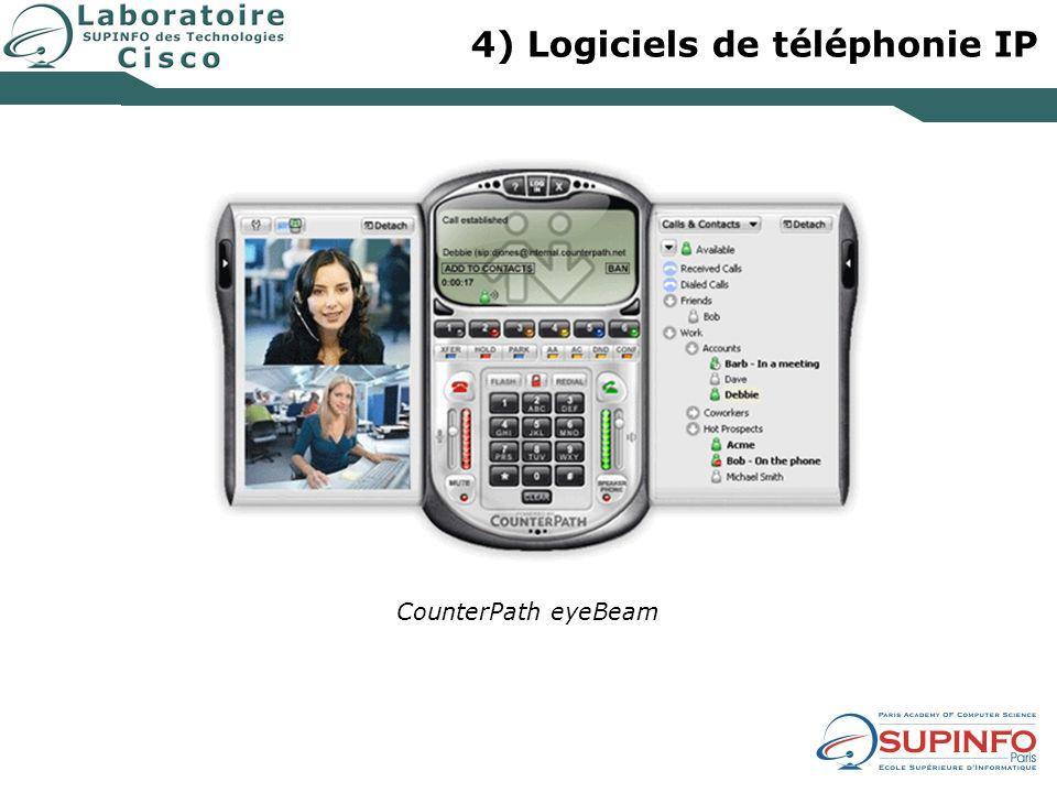 4) Logiciels de téléphonie IP CounterPath eyeBeam