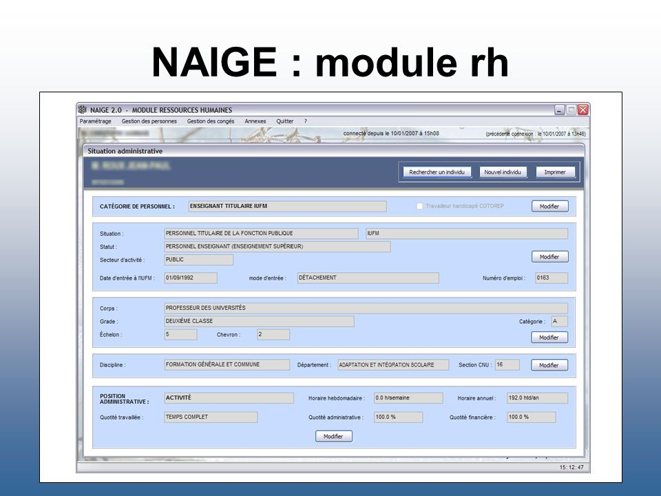 NAIGE : module rh