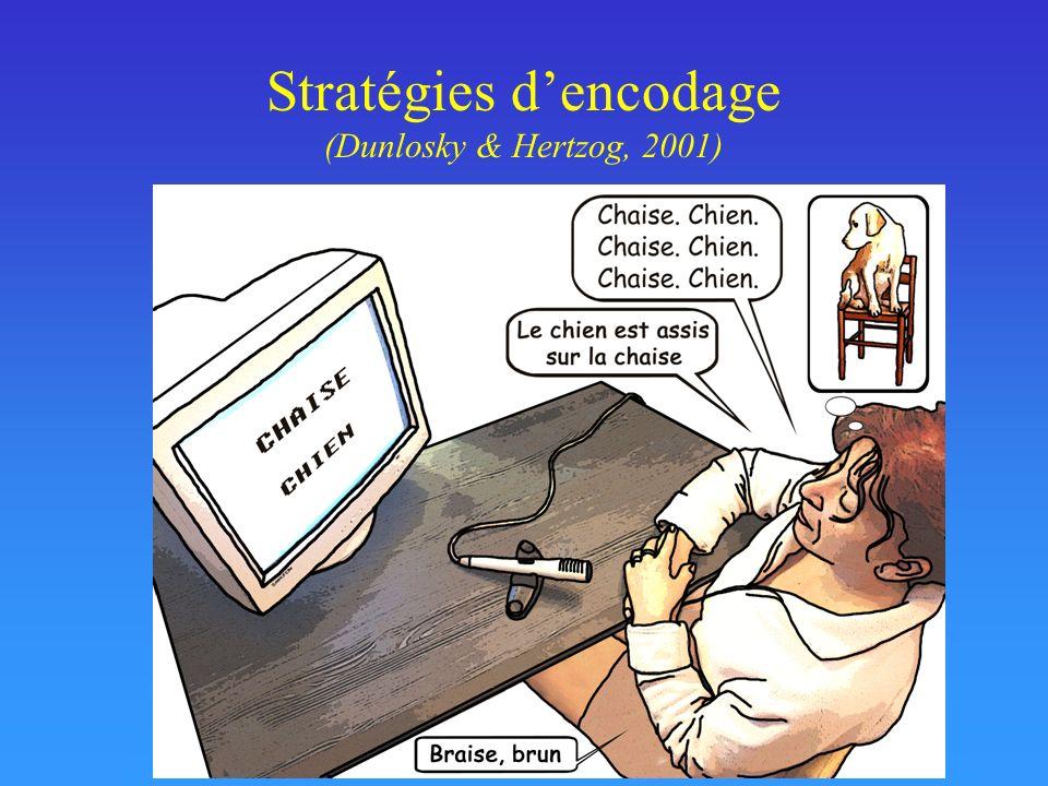 Stratégies dencodage (Dunlosky & Hertzog, 2001)