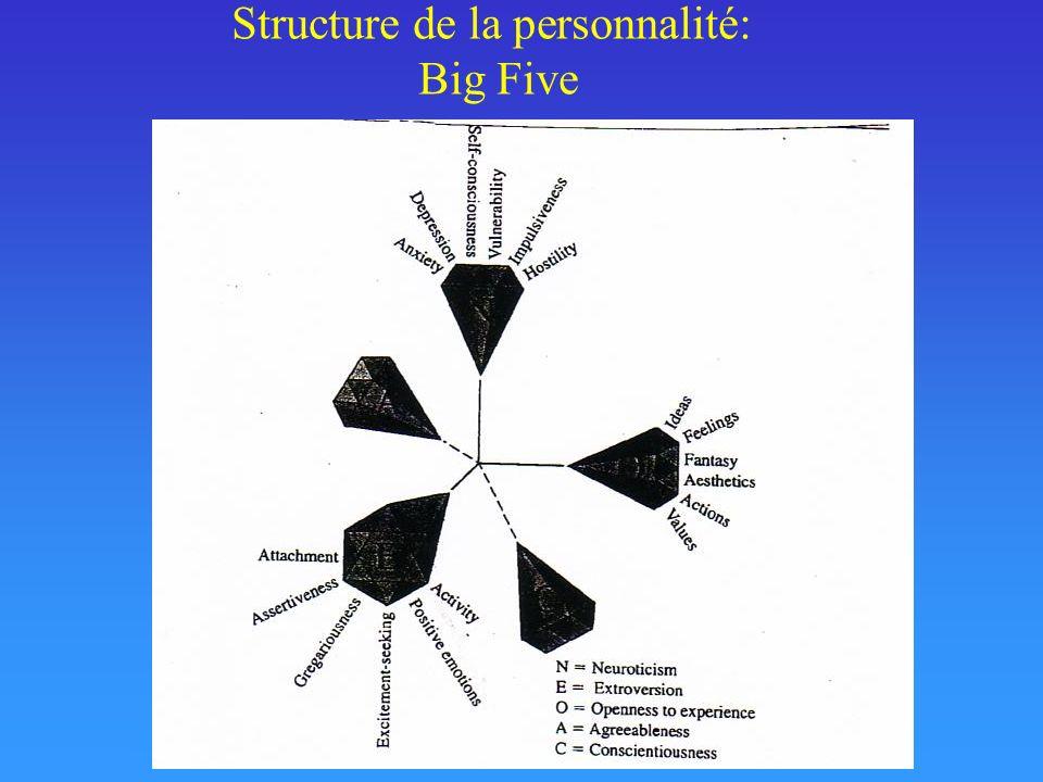 Structure de la personnalité: Big Five