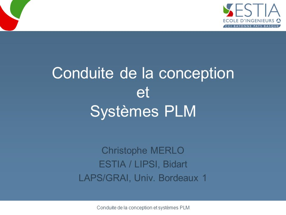 Conduite de la conception et systèmes PLM 12 Product data management dimension Example of typical document workflow, based on Windchill PDMLink (PTC)