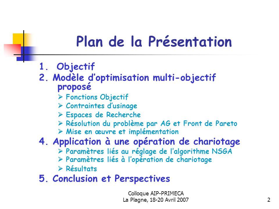 Colloque AIP-PRIMECA La Plagne, 18-20 Avril 200723 Merci pour votre Attention !