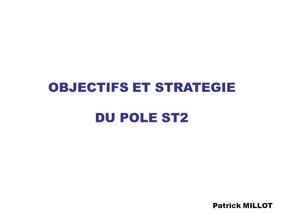 Juin 2003 : Recentrage du programme Organisation en pôle ST2 Depuis 1983 : GRRT Nord - Pas de Calais Février 2001 : Plan de renforcement de la recherche dans le Nord - Pas de Calais Janvier 2002 : Comités scientifique et de pilotage ANR 2001 - 2002 : 1,3 M en équipements 3 postes créés (1CR + 2 IR)