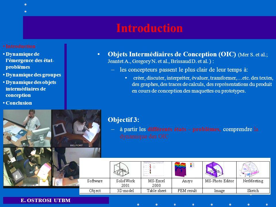 E. OSTROSI UTBM 5 Introduction Objets Intermédiaires de Conception (OIC) (Mer S. et al.; Jeantet A., Gregory N. et al., Brissaud D. et al. ) : –les co