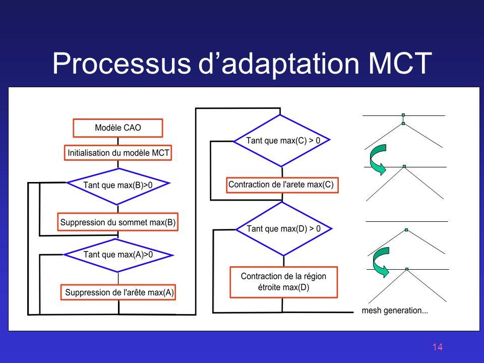 14 Processus dadaptation MCT Région étroite Arête de petite taille