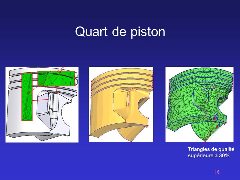 16 Quart de piston Triangles de qualité supérieure à 30%