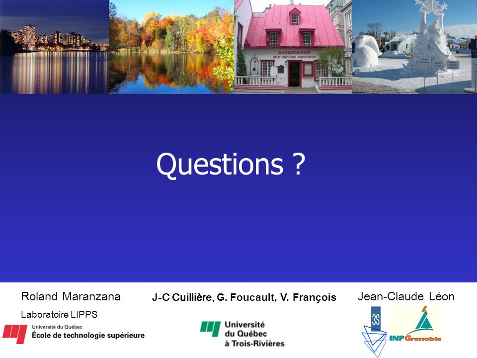 19 Questions .J-C Cuillière, G. Foucault, V.