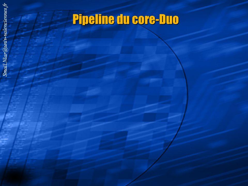 Smail.Niar@univ-valenciennes.fr P4 : un pipeline à 20 étages