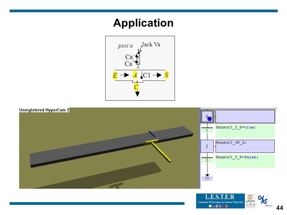FRE 2734 Application post a C1 JackVa A Ca - + C E S 44