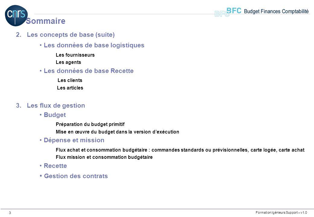 Formation Igénieurs Support– v1.0 4 CNRS – Projet BFC Etablissement Support de formation Formation Ingénieurs Support Cartographie des flux autour de BFC
