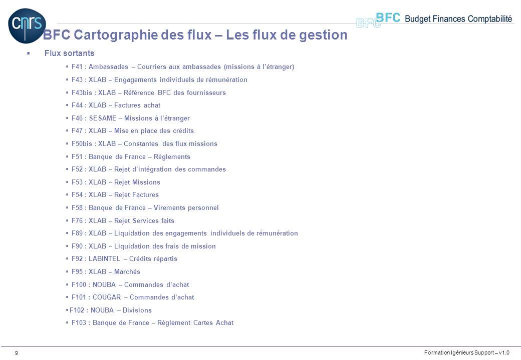 Formation Igénieurs Support – v1.0 30 BFC Concepts de base – Les données de base budgétaires Domaines Fonctionnels
