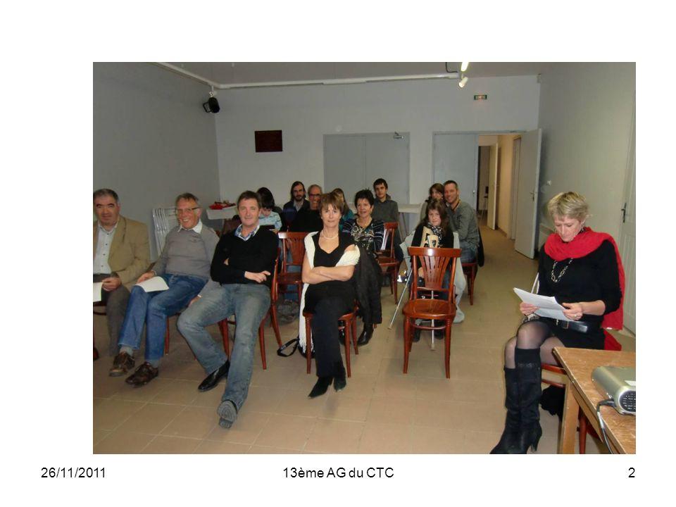 26/11/201113ème AG du CTC2