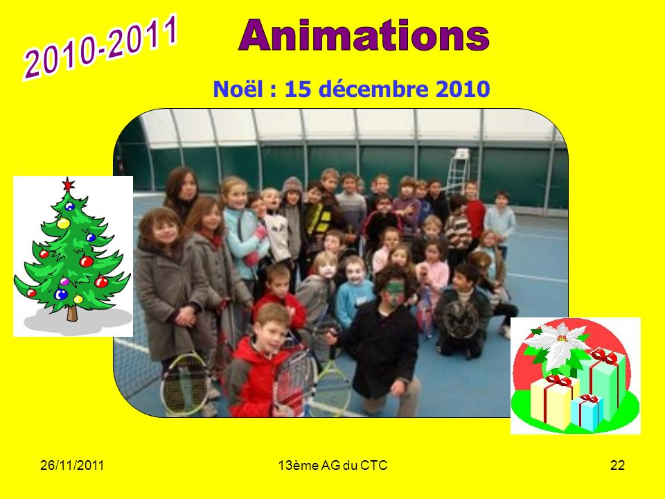 26/11/201113ème AG du CTC22 Noël : 15 décembre 2010