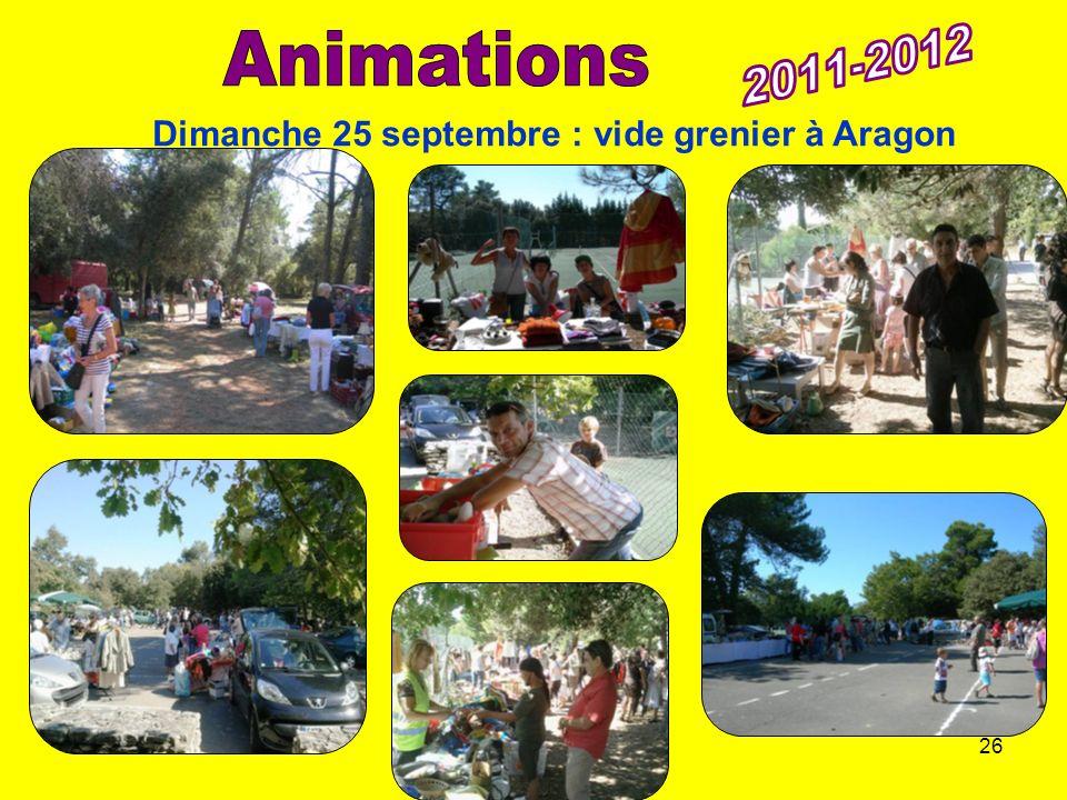 26/11/201113ème AG du CTC26 Dimanche 25 septembre : vide grenier à Aragon