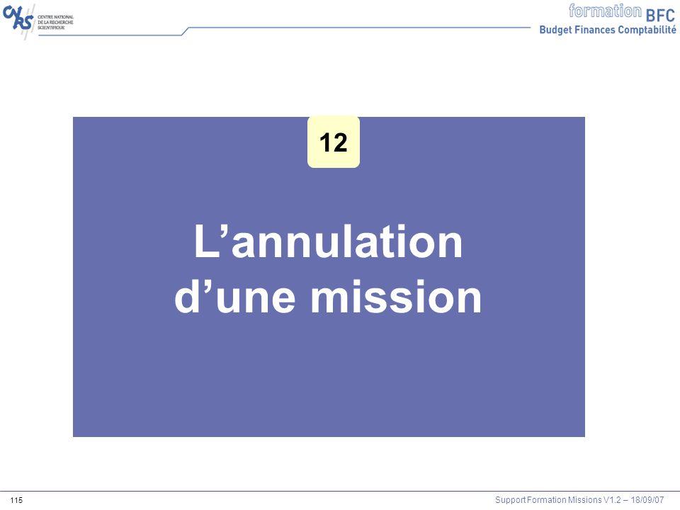 Support Formation Missions V1.2 – 18/09/07 115 Lannulation dune mission 12