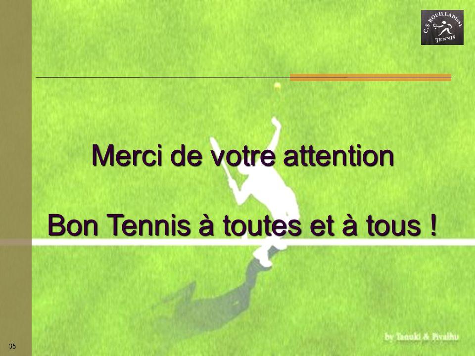 35 Merci de votre attention Bon Tennis à toutes et à tous !