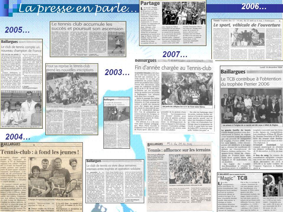 La presse en parle… 2007… 2004… 2006… 2005… 2003…