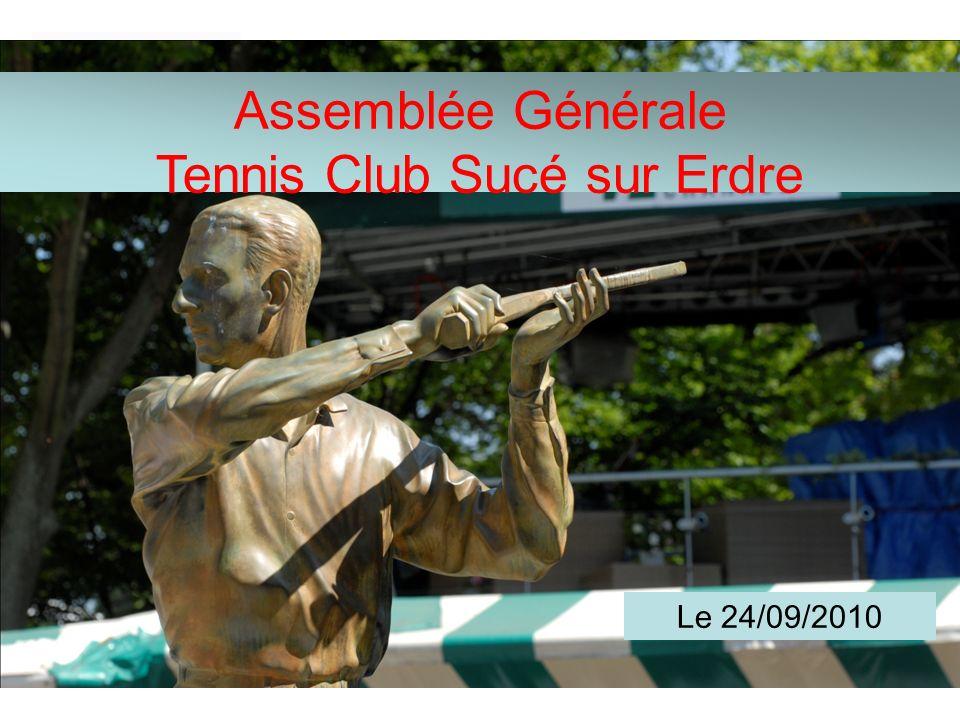 Assemblée Générale Tennis Club Sucé sur Erdre Vendredi 24 septembre 2010 Assemblée Générale Tennis Club Sucé sur Erdre Le 24/09/2010