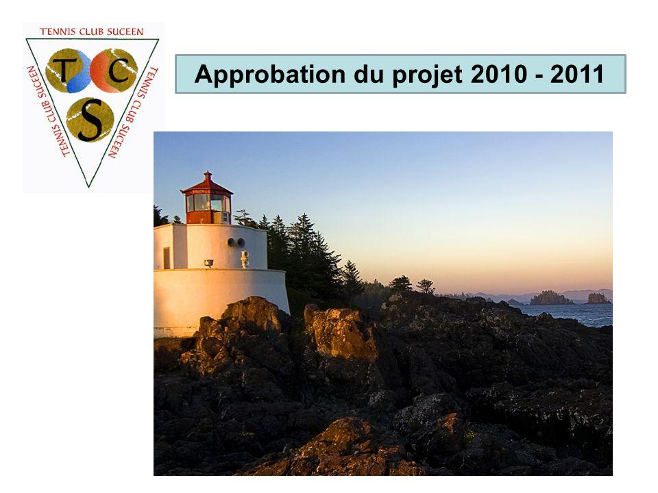 Approbation du projet 2010 - 2011