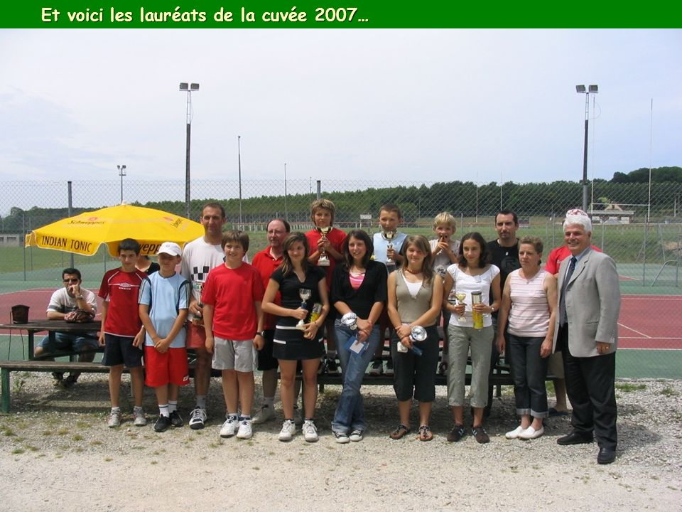 Et voici les lauréats de la cuvée 2007…