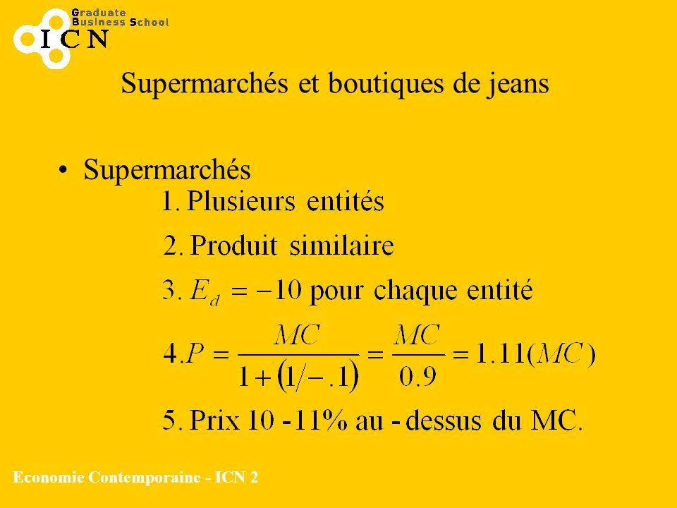 Economie Contemporaine - ICN 2 Supermarchés et boutiques de jeans Supermarchés