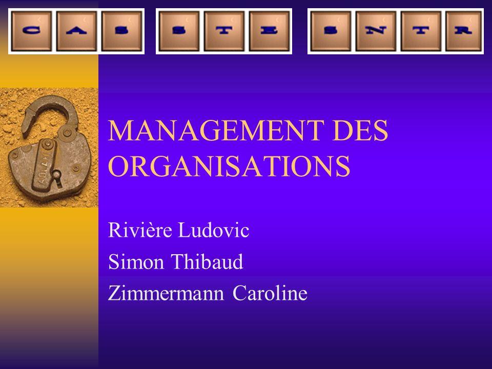 MANAGEMENT DES ORGANISATIONS Rivière Ludovic Simon Thibaud Zimmermann Caroline