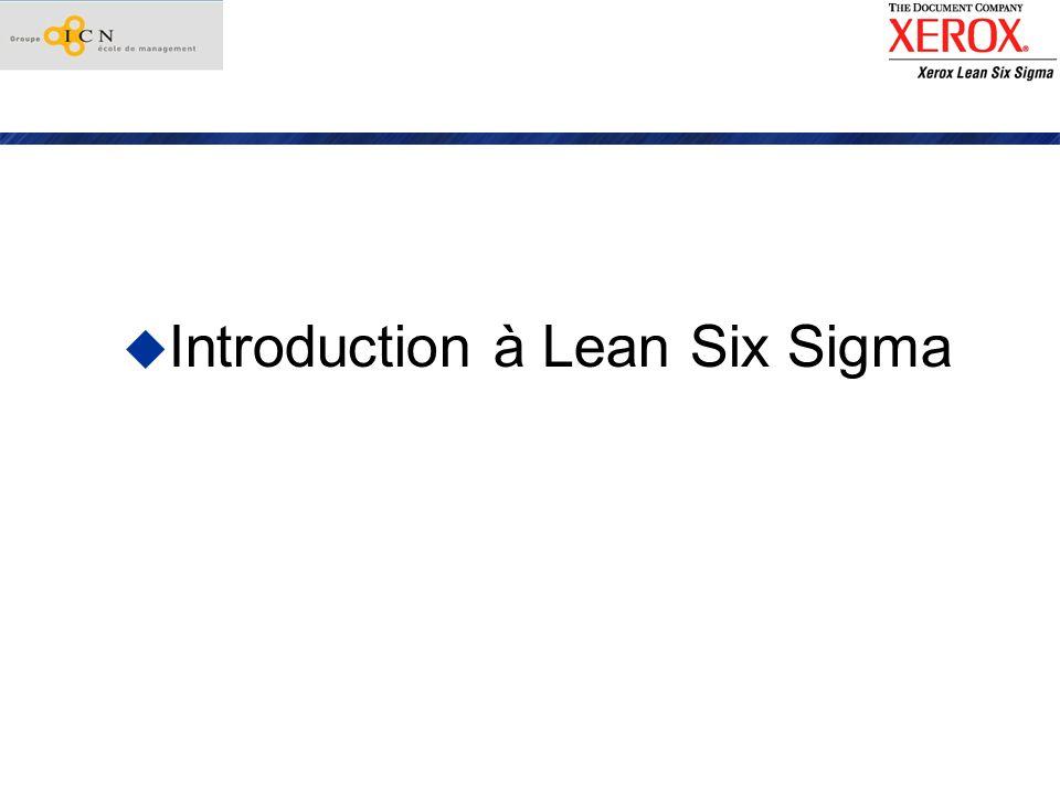 Strategie Xerox vs Lean Six Sigma Quest-ce que Six Sigma.