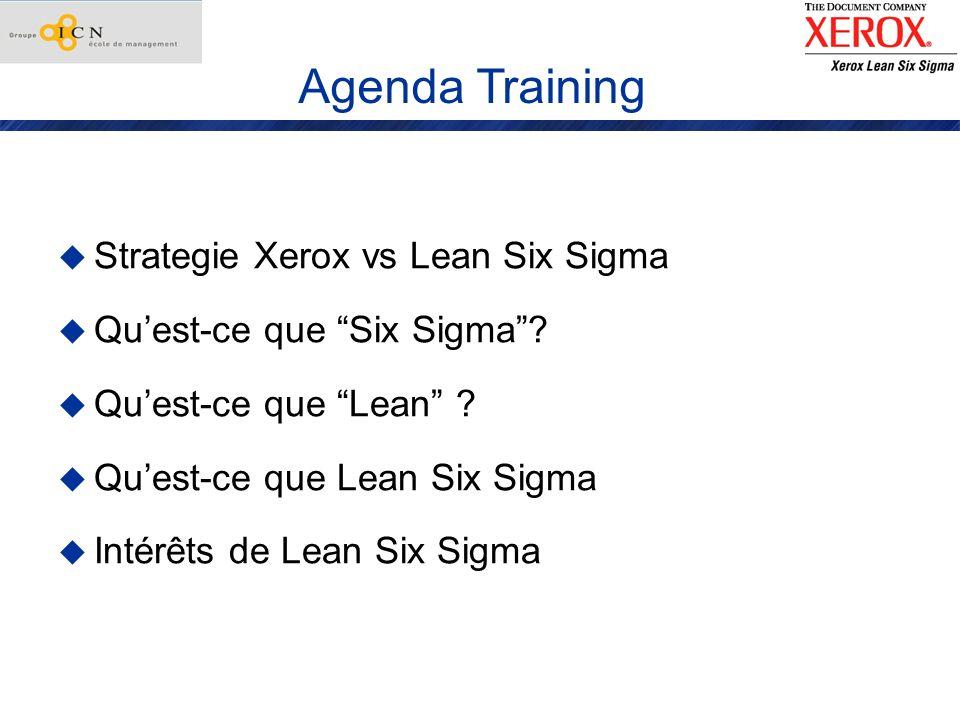 Xerox - Lean Six Sigma Lean Six Sigma = un changement culturel pour redevenir performant Lean Six Sigma 1.