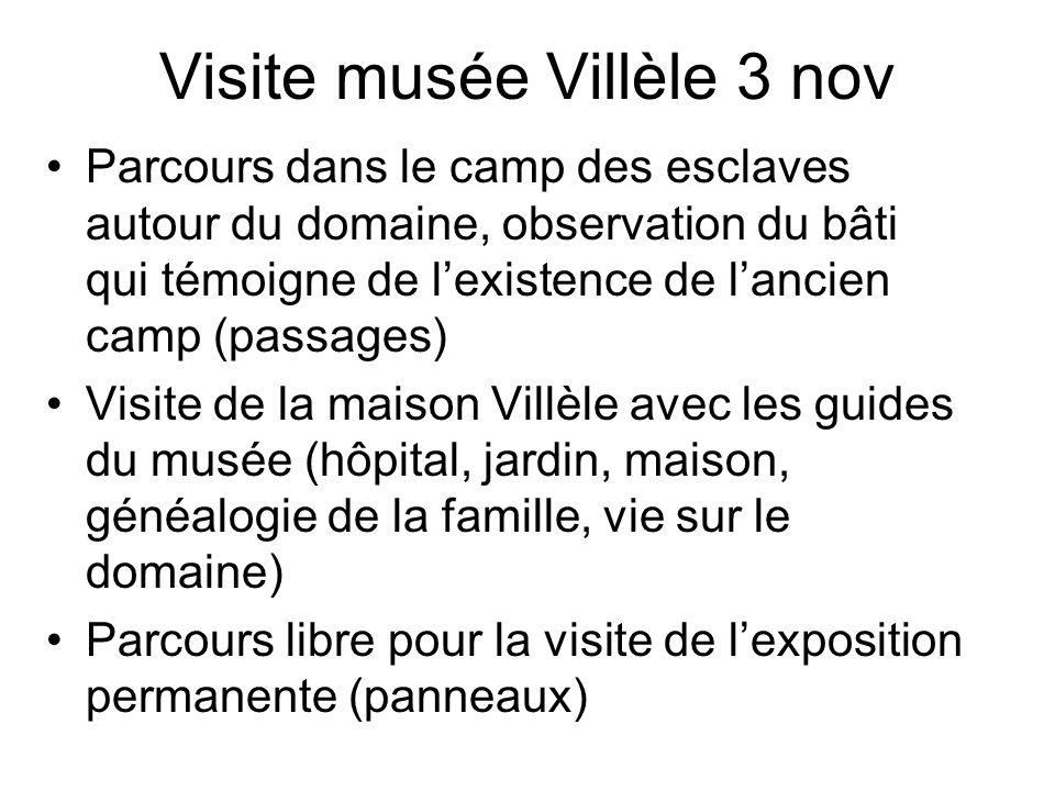 Visite musée Villèle 3 nov Parcours dans le camp des esclaves autour du domaine, observation du bâti qui témoigne de lexistence de lancien camp (passa