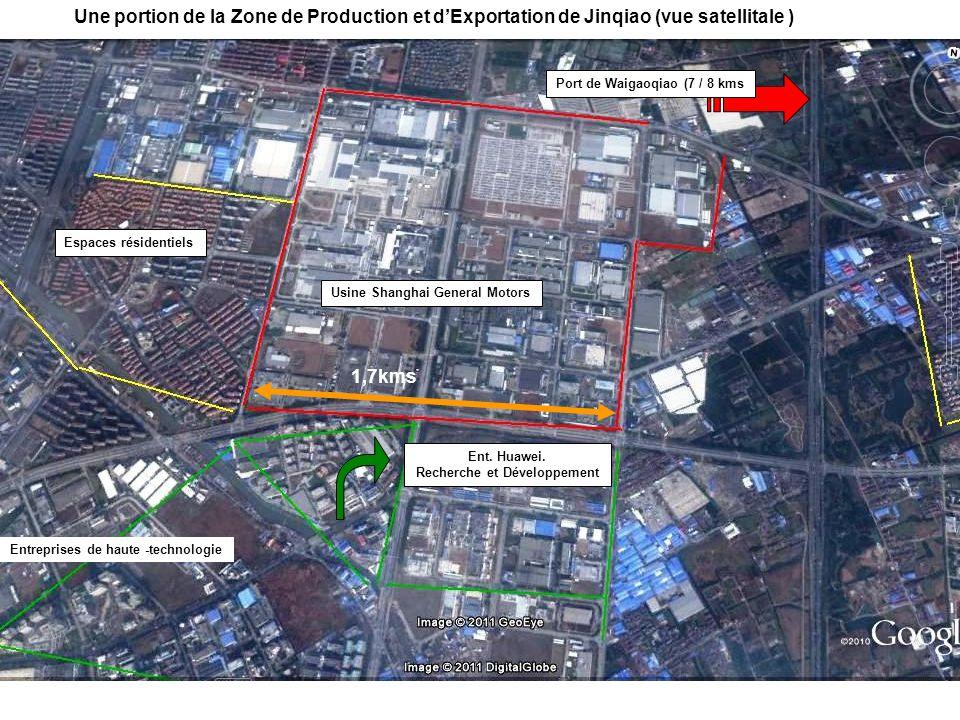 Espaces résidentiels Usine Shanghai General Motors Entreprises de haute -technologie Ent. Huawei. Recherche et Développement Port de Waigaoqiao (7 / 8