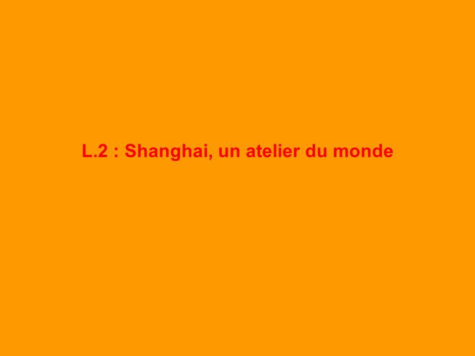 L.2 : Shanghai, un atelier du monde [ fiche de travail ] Lexemple de laménagement de la Zone Economique Spéciale de Pudong.