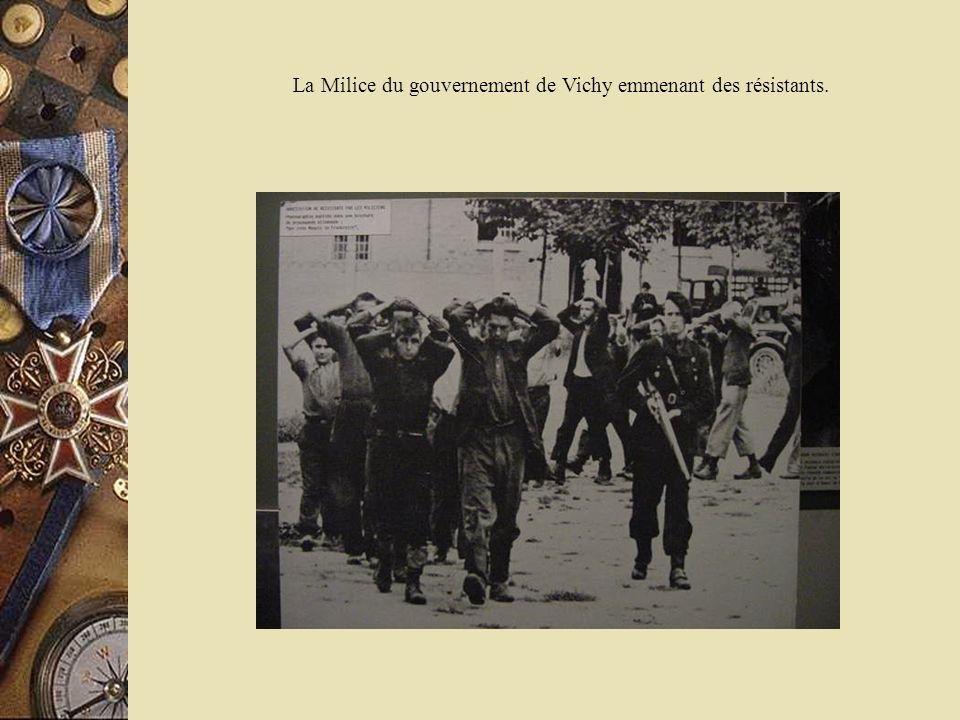 La Milice du gouvernement de Vichy emmenant des résistants.