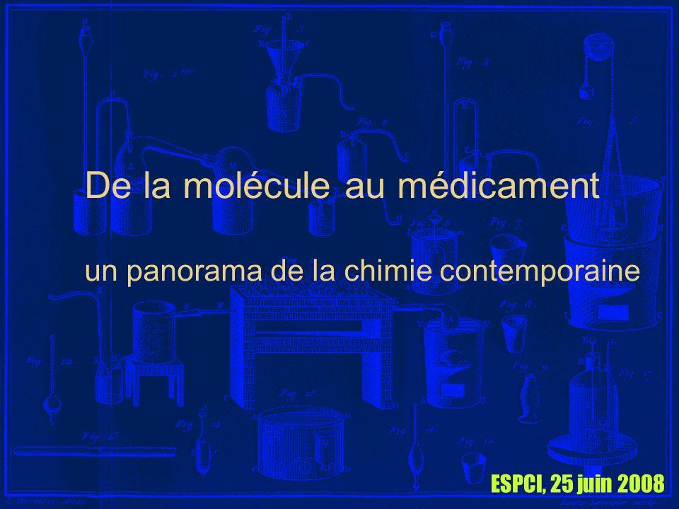 De la molécule au médicament un panorama de la chimie contemporaine ESPCI, 25 juin 2008