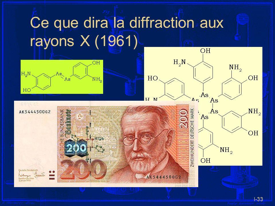 I-33 Ce que dira la diffraction aux rayons X (1961)