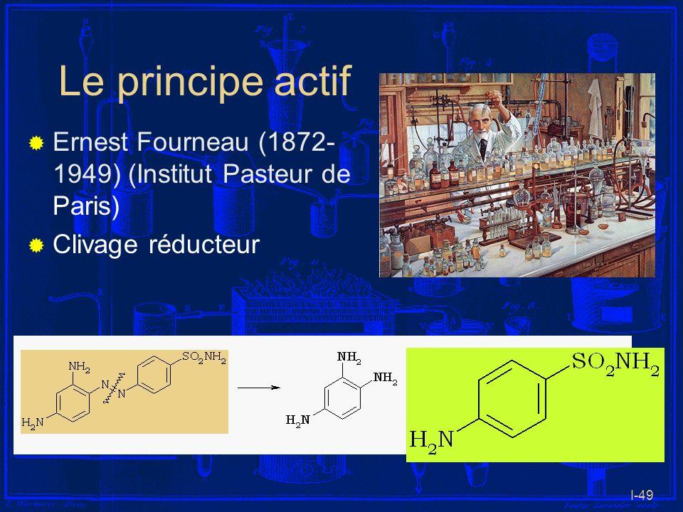 I-49 Le principe actif Ernest Fourneau (1872- 1949) (Institut Pasteur de Paris) Clivage réducteur