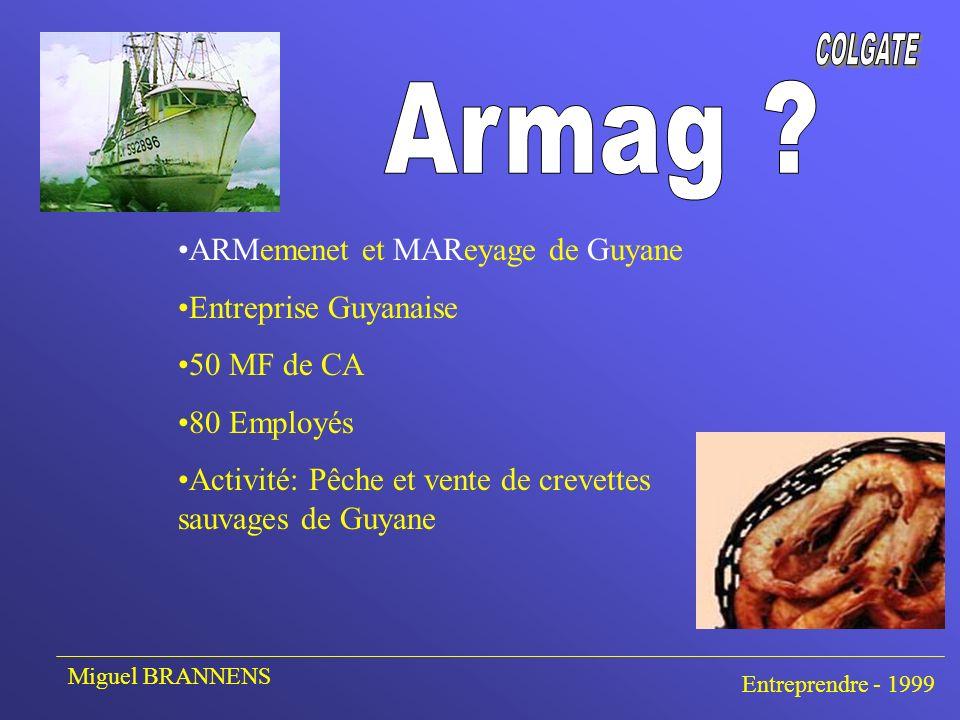 Faire connaître la Crevette sauvage de Guyane Faire connaître l entreprise et ses atouts Permettre aux clients de les contacter Miguel BRANNENS Entreprendre - 1999