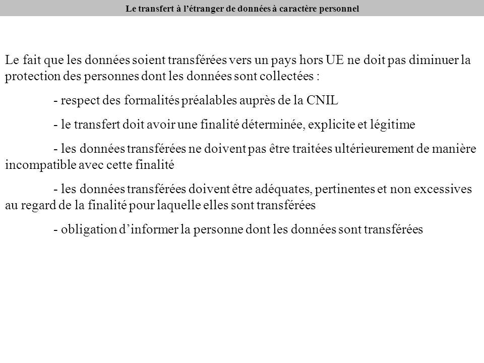 Le transfert à létranger de données à caractère personnel Quest-ce quun pays assurant un niveau de protection adéquat.