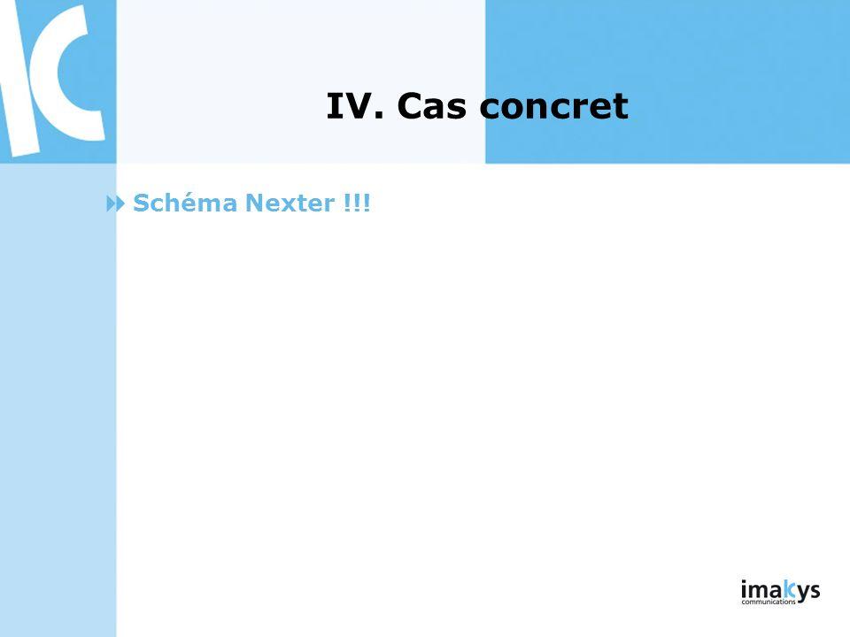 IV. Cas concret Schéma Nexter !!!