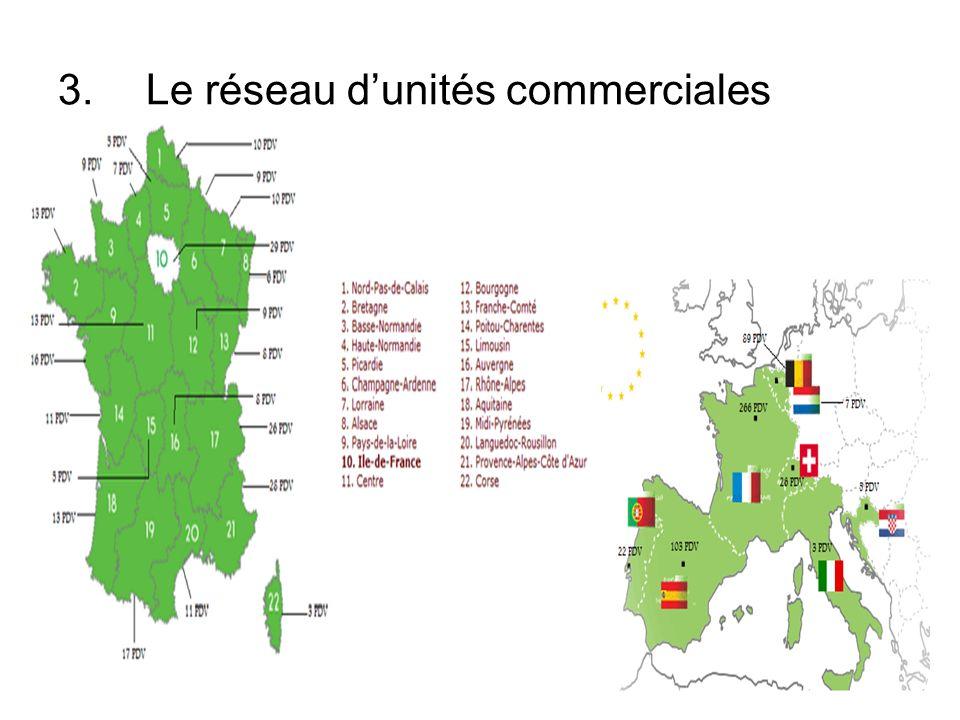 3.Le réseau dunités commerciales