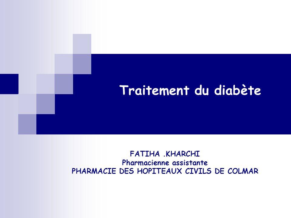 Interactions Médicamenteuses Antidiabétiques : + Médicaments diabétogène, hyperglycémiants : - Danazol, Progestatifs macrodosés, Oestrogènes, Glucocorticoïdes, β2 sympathiques, chlorpromazine, Pour sulfamides hypoglycémiants, métaglinides, glitazones : + inducteurs enzymatiques (rifampicine, phénytoïne, barbituriques, carbamazépine, millepertuis), + Autres antidiabétiques, Pour les sulfamides hypoglycémiants : - +AINS, dextropropoxyphène, alcool, fibrates, IEC, fluoxétine,phénylbutazone, cyclophosphamide, chloramphénicol, quinolones, sulfamides antibiotiques, Diminution de leffet hypoglycémiant, Risque dhypoglycémie,