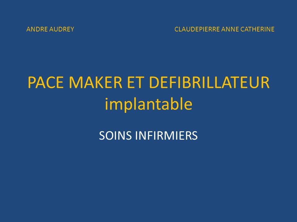 PACE MAKER ET DEFIBRILLATEUR implantable SOINS INFIRMIERS ANDRE AUDREY CLAUDEPIERRE ANNE CATHERINE