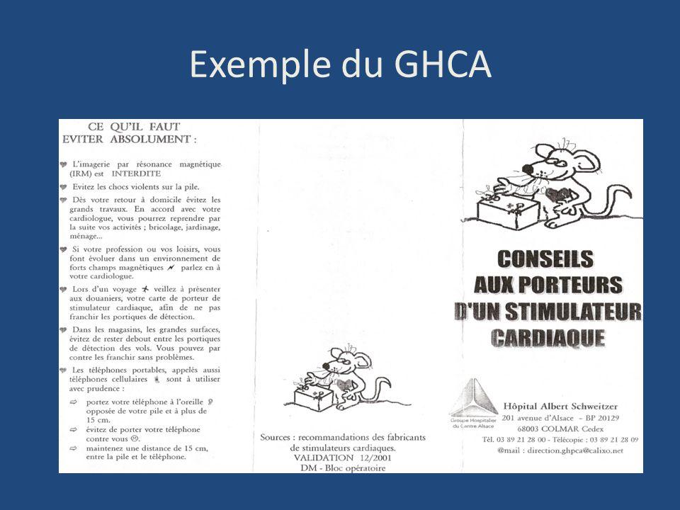 Exemple du GHCA