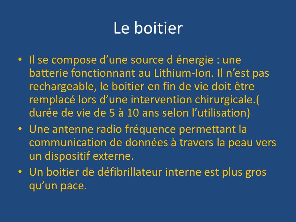 Le boitier Il se compose dune source d énergie : une batterie fonctionnant au Lithium-Ion. Il nest pas rechargeable, le boitier en fin de vie doit êtr