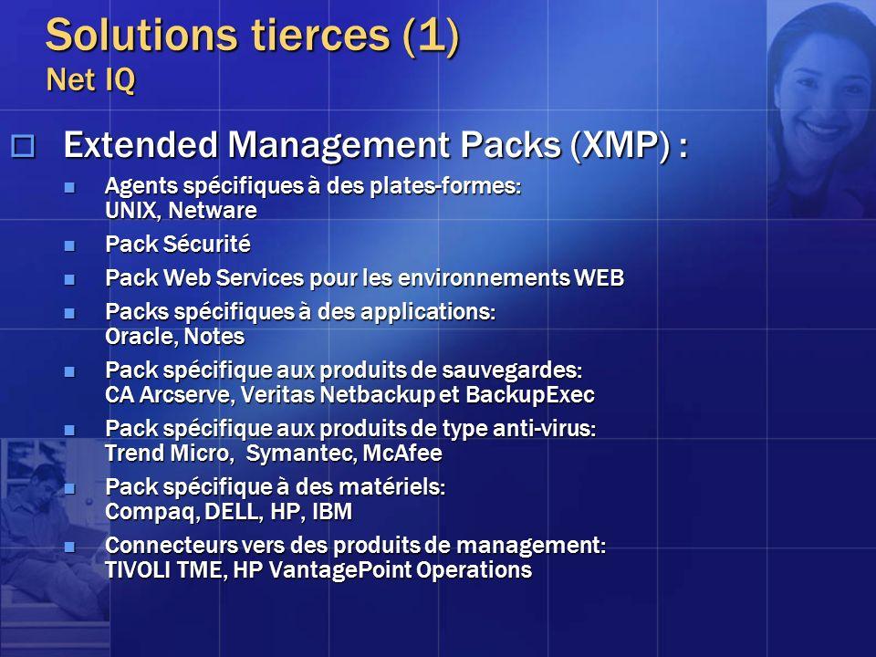Extended Management Packs (XMP) : Extended Management Packs (XMP) : Agents spécifiques à des plates-formes: UNIX, Netware Agents spécifiques à des pla