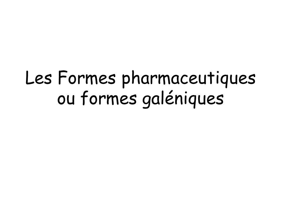 Définition La Pharmacie galénique = science et art de préparer, conserver et présenter les médicaments Composition, forme et présentation du mdt - Administration optimale - Précision du dosage - Stabilité satisfaisante