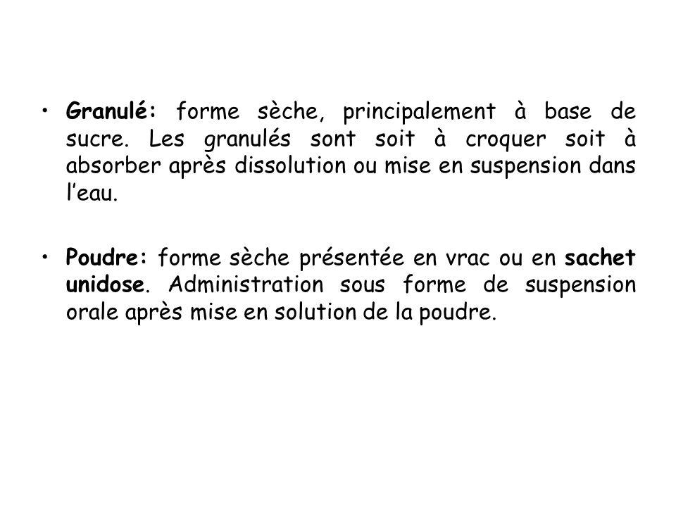Soluté buvable: unidose (ampoule buvable) ou en flacon multidose.