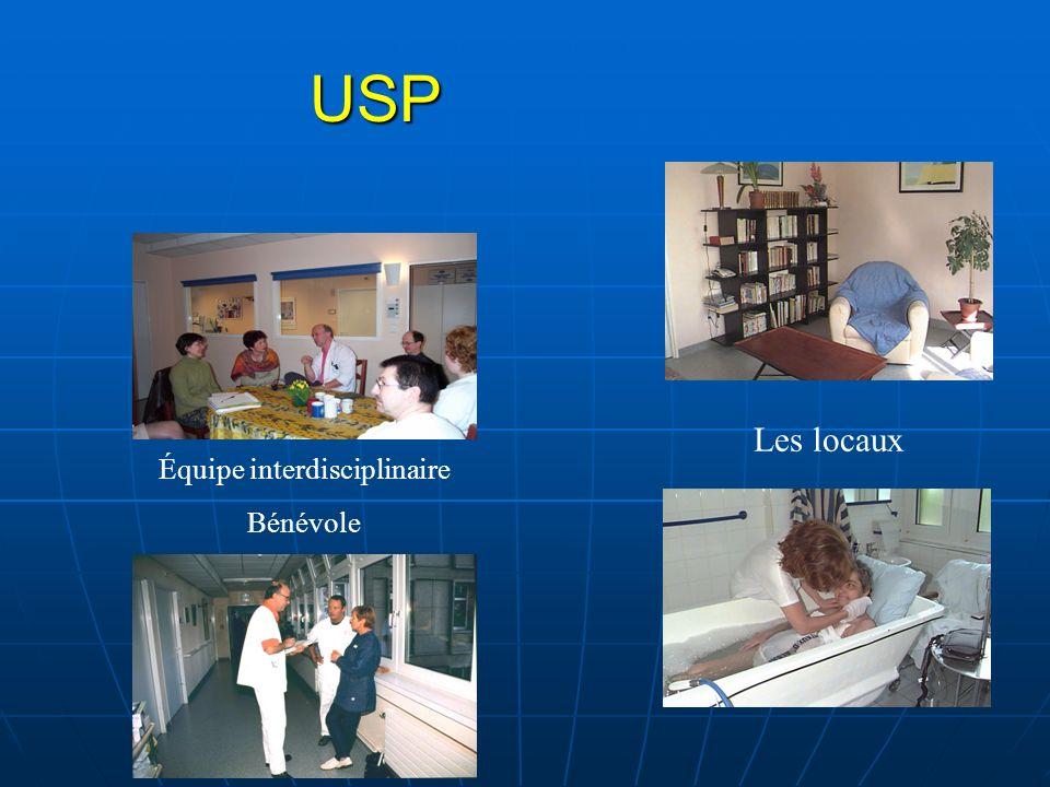 USP Les locaux Équipe interdisciplinaire Bénévole