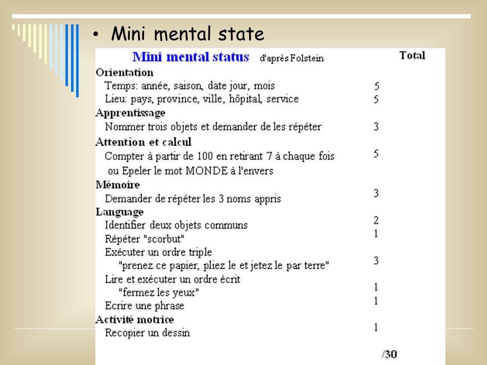 Mini mental state