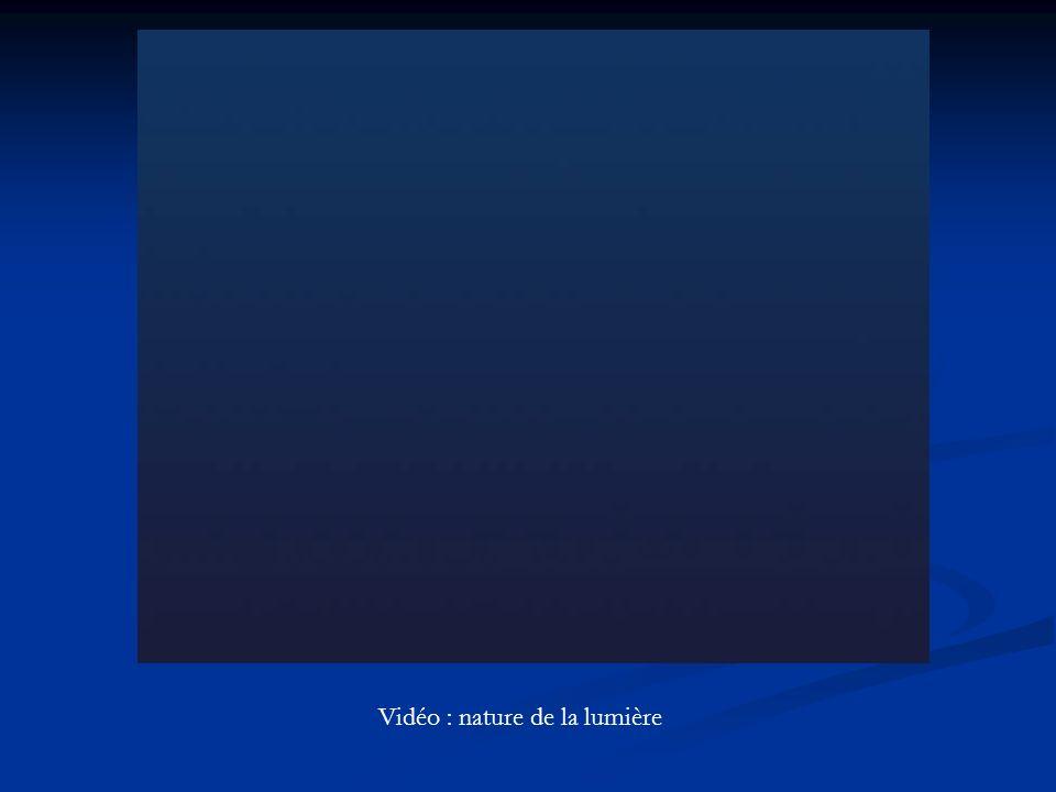 Vidéo : nature de la lumière
