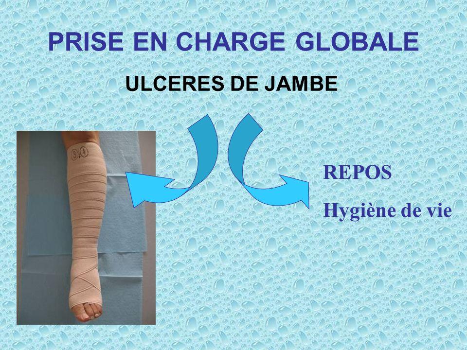 PRISE EN CHARGE GLOBALE ULCERES DE JAMBE REPOS Hygiène de vie